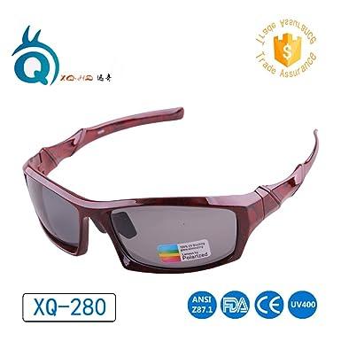 786445dbd2 2017 UV400 eye ProtectionPolarized lens Cycling man women Sunglasses dark  red Outdoor Sport unisex Goggles Bike Eye sun Glasses  Amazon.in  Clothing    ...