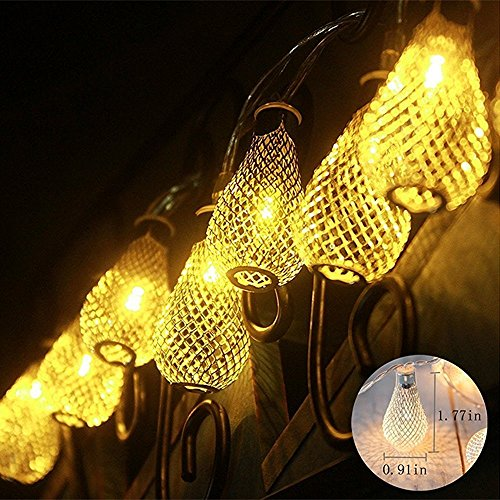 Baihemiya-Gold-Moroccan-LED-String-Lights-Curtain-Christmas-Light-for-Indoor-Bedroom-Patio-Lawn-Landscape-Fairy-Garden-Home-Wedding-Holiday-Christmas-Tree-Halloween-Party-Length-4m