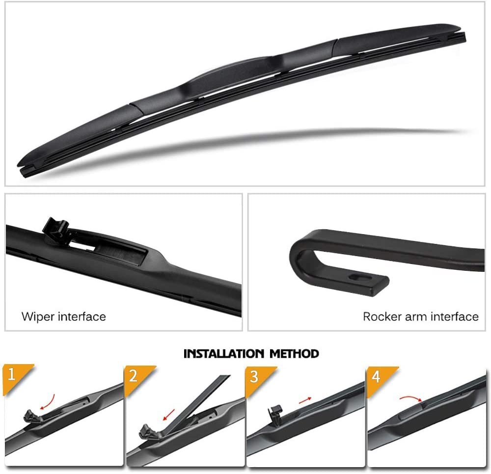 for 2013-2018 Qashqai Pack of 2 Front Windscreen Wiper Blades 26+16