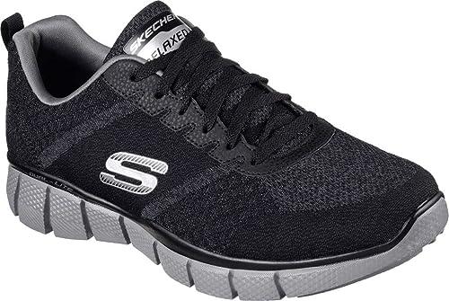 Skechers Men's Equalizer 2.0-True Balance Sneakers, Black/Charcoal, ...