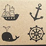 Np Crafts 4 Kids Rubber Stamps Anchor Scrapbook Stamper Nautical Marine Ocean Whale Sea Wheel Ship High Quality