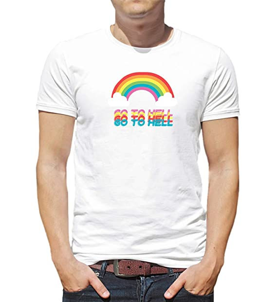 e3dccef3e4 LumaShirts Go To Hell Sweet Anger Rainbow Cute 000380 T-Shirt Tshirt  Camiseta para la Hombres Hombre  Amazon.es  Ropa y accesorios
