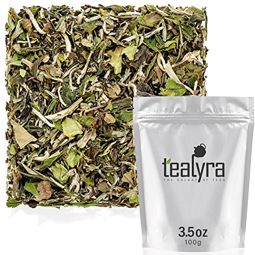 Tealyra - Imperial Grade White Peony - Bai Mu Tan - Fresh White Loose Leaf Tea - Organically Grown - Low Caffeine - High in Antioxidants - 100g (3.5-ounce) ()