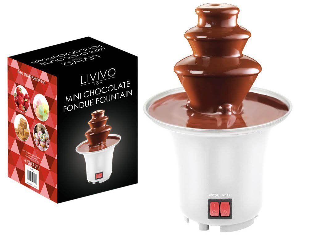 LIVIVO ® 3 Tier Mini Chocolate Fondue Fountain: Amazon.co.uk ...