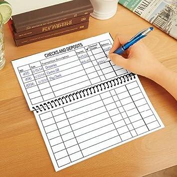Amazon.com : Jumbo Large Print Checkbook Register- Balancing ...