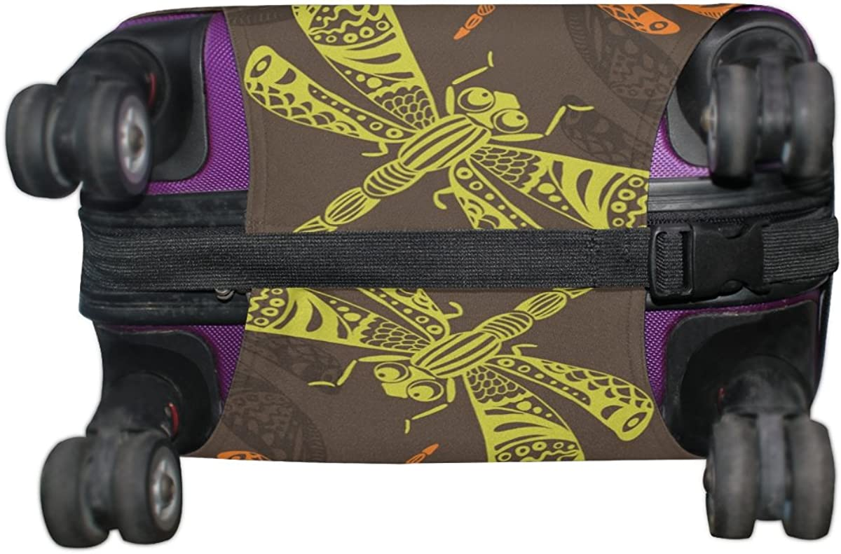 LAVOVO Dragonflies Luggage Cover Suitcase Protector Carry On Covers