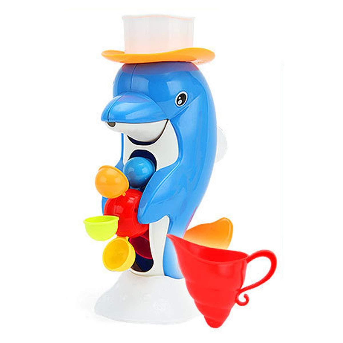 REFURBISHHOUSE Badezimmer Baby Kinder Kleinkind Baden Wasser Spruehwerkzeug Badewanne Badewanne Delphin Spielzeug 164971