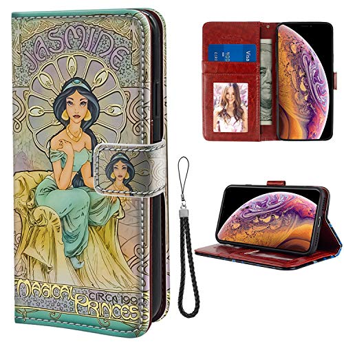 for iPhone Xs Max Wallet Case Jasmine Princess