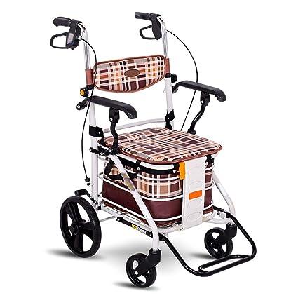 GTT Carro de Compras de Acero al Carbono Hombre Viejo Que Compra Verduras con Carrito de