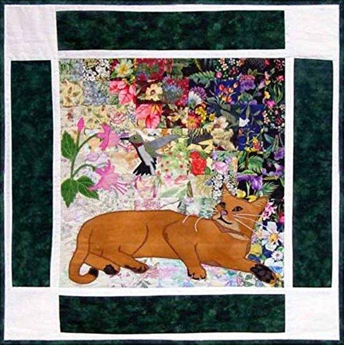 Watercolor Quilt Kit - Rachel's Cat Garden - Block 3 - Simba Abyssinian Cat - KIT ONLY! (Quilling Quilt Blocks)