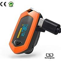 QZY Oxímetro de Pulso Fingertip, Monitor de Color del Monitor de LED su Oxígeno en la Sangre (O2) Niveles de Saturación-Cordón y Maletín