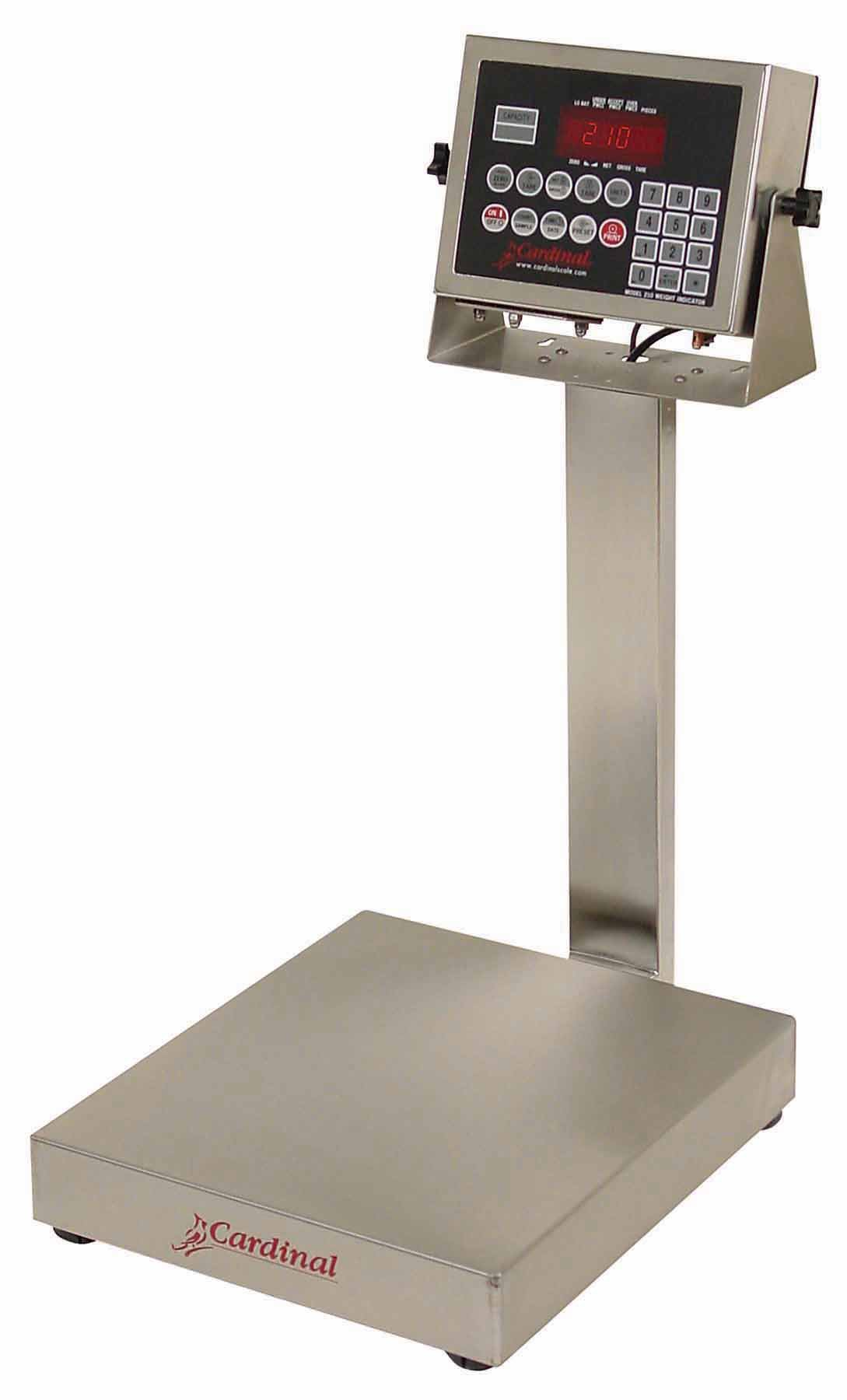 Detecto EB-60-210 Bench Scale, Electronic, 60 lb. Capacity, Stainless Steel, 210 Indicator, 16'' x 14''