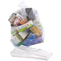 Abbey Clear Recycling Bin Liners Bags/Sacks/Refuse/Rubbish - Size 18 x 29 x 39 Inch - 64 Gauge