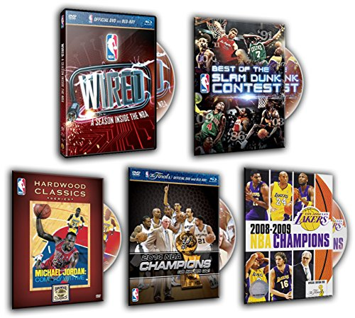 Best of the NBA Slam Dunk Contest, WIRED: A Season Inside the NBA, 2008-2009 NBA Champions: Los Angeles Lakers, Hardwood Classics: Michael Jordan: 2014 NBA Highlights (5 DVDs Pack)