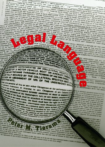 Legal Language by University Of Chicago Press