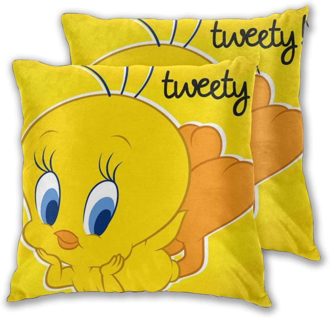 Tw-Eety Bird Throw Pillow Covers Set of 2 Cushion Case 18