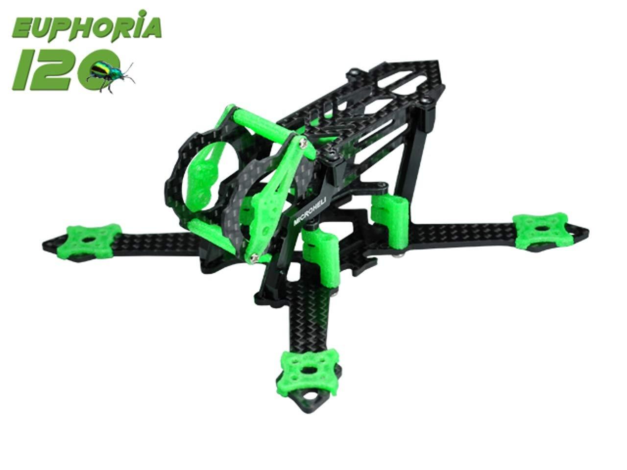 Euphoria 120 レーシングフレームキット (グリーン)   B07GDJX2JF