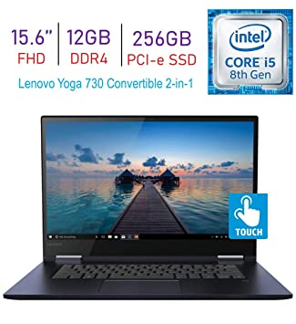 Lenovo Yoga 730 15.6-inch 2-in-1 Touchscreen FHD IPS (1920x1080) Laptop PC, 8th Gen Intel Quad Core i5-8265U, 12GB DDR4, 256GB PCI-e SSD, Thunderbolt, ...