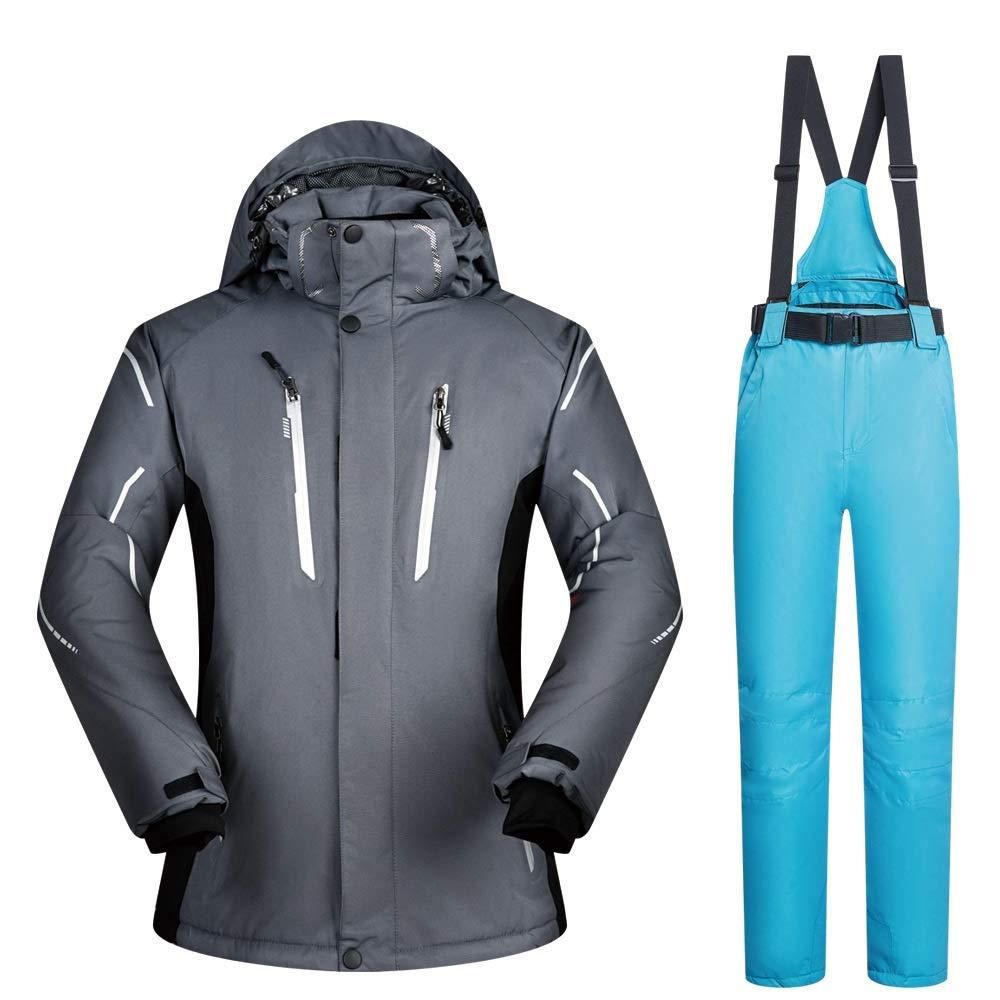 C9 grand Yiwuhu Veste pour Homme Tailleur Ski Costume Hiver Extérieure Imperméable Coupe-Vent épaississeHommest De L'humidité Grande Taille VêteHommests de Ski d'hiver idéal (Couleur   C9, Taille   XL)