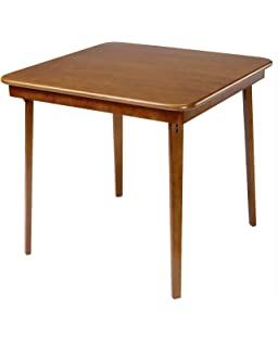 Stakmore Straight Edge Folding Card Table Finish, Fruitwood