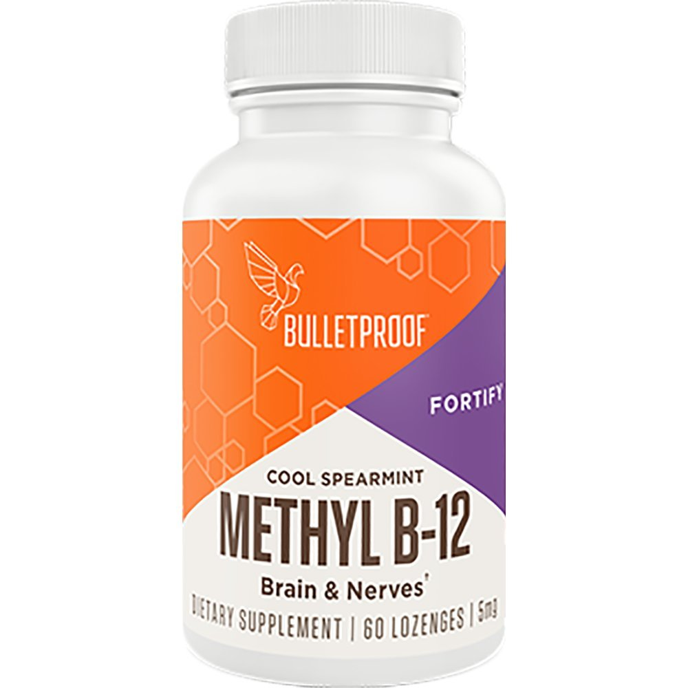Bulletproof Methyl B-12, Supports Healthy Brain Cells and Nervous System (60 Lozenges)