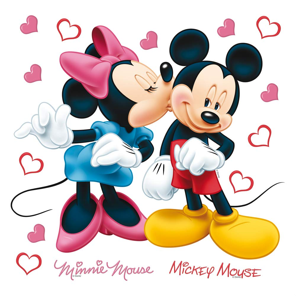 mickey mouse&minnie DKs 1085 Wall Sticker, Film, Multi-Colour, 30 x 30 cm/12 x 12-Inch