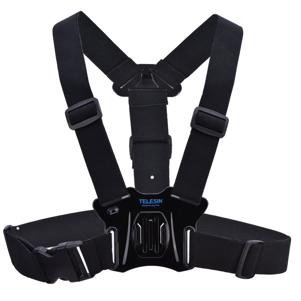 Acouto Adjustable Body Chest Strap Mount Harness Belt for Go pro Hero 5/4/3+/3 Sport Camera