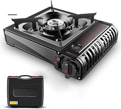 Barbacoa portátil de casete, cocina de gas de camping al aire ...