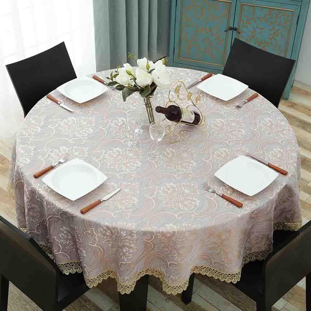 Mantel redondo tapete de encaje mesa de restaurante hogar casero , 001 , diameter 160cm