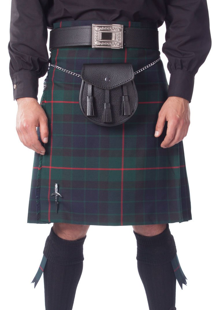 Kilt Society Mens 8 Yard Scottish Kilt Gunn Tartan 30'' to 34''