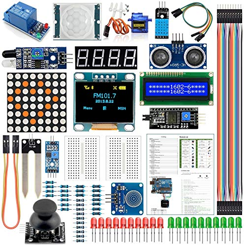 Arduino Kit UNO R3 Nano V3.0 Mega 2560 Mega 328 Project Starter Kit Compatible with Arduino IDE(English Tutorial)