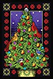Toland Home Garden Cardinal Decorations 12.5 x 18 Inch Decorative Bird Christmas Tree Garden Flag -...