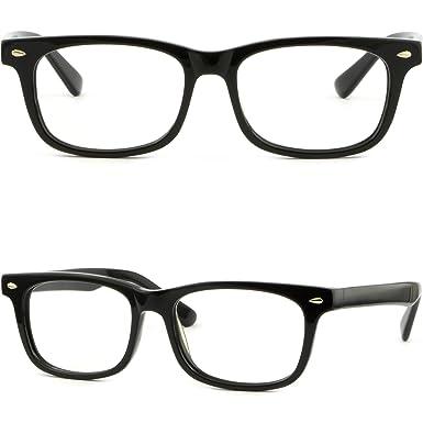 606015613b Amazon.com  Square Men Women Acetate Frame Prescription Glasses ...