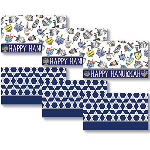 Jillson Roberts 24-Count Hanukkah Money Holders in Assorted Designs