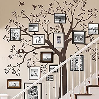Staircase Family Tree Wall Decal Tree Wall Decal   (Chestnut Brown,  Standard Size: