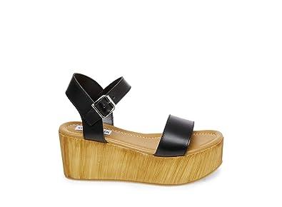407e98d7dc90 Steve Madden Women s Connection Black Leather Sandal ...