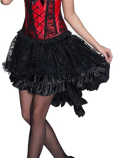 Saoye Fashion Faldas Mujer Negro Goticos Steampunk Niñas Ropa ...