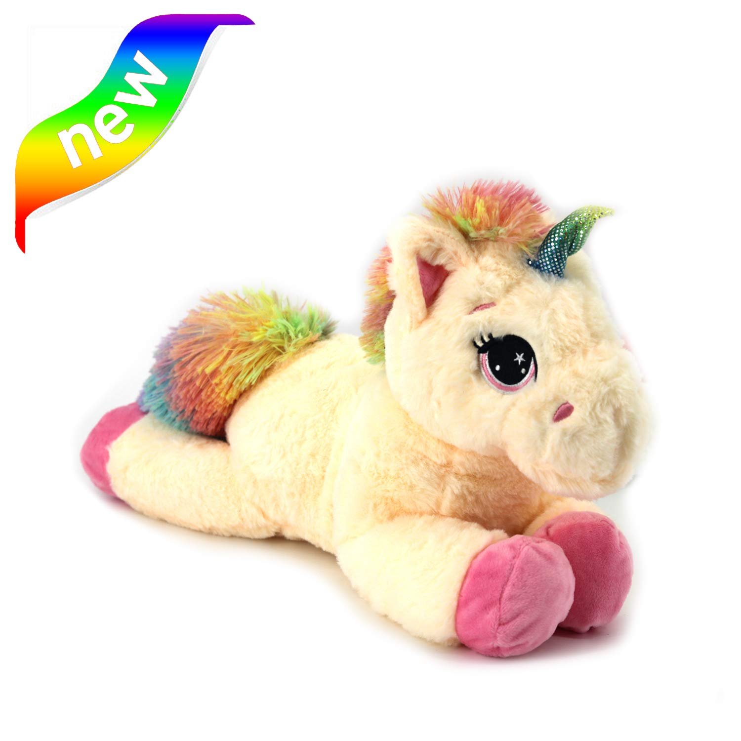Unicorn Stuffed Animal - Cute Unicorn Gifts Large 15.8'' Rainbow Unicorns Plush Toy, Gift Packaged for Graduation, Birthday or Valentines Gift or Christmas or Thanksgiving or New Year for toddlers, uni