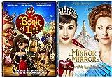 Mirror Mirror & Book of Life DVD Animated + Princess Set