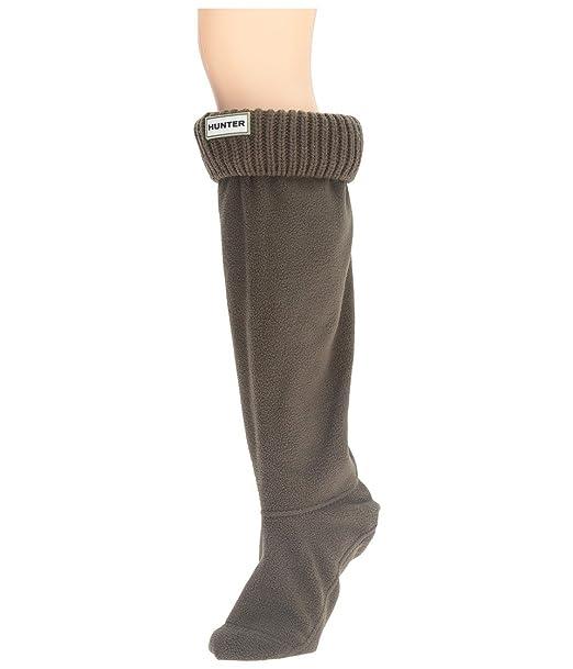 Calcetines unisex Hunter de talle alto para botas y de color verde oscuro