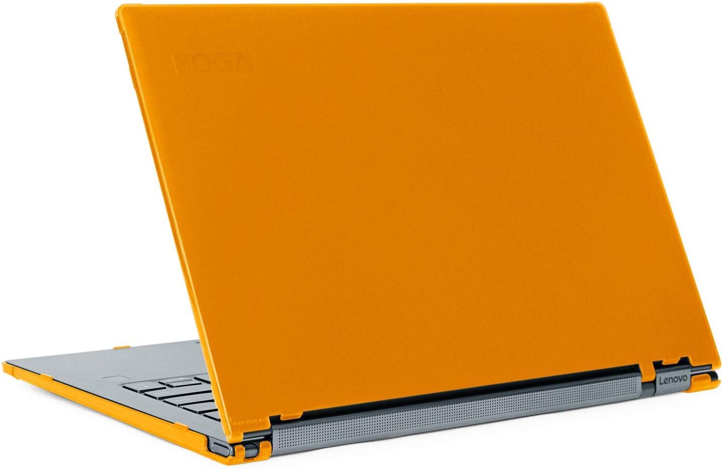 "mCover Hard Shell Case for Late-2019 14"" Lenovo Yoga C940 Series (NOT Fitting Older Yoga 900/910 / 920 / C930) multimode Laptop Computer (14-Inch Yoga C940, Orange)"
