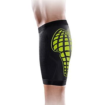 MLD - Espinilleras para hombre Mujer Deporte Corriendo Calcetines de compresión para bicicleta Baloncesto Bádminton etc gris/rojo/verde, color negro y verde ...