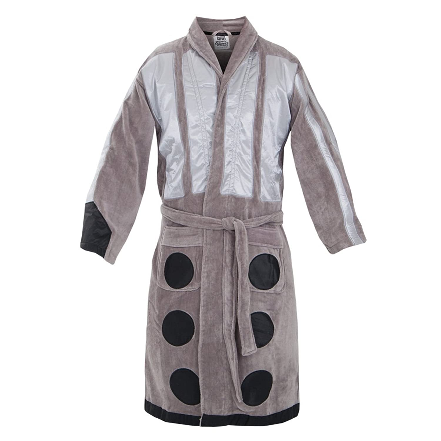 Dr. Who Silver Dalek Inspired Terry Velour Robe for men