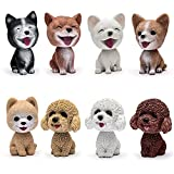 (US) Comidox Handmade childhood memory BobbleHead Dogs Car Dash Puppy for Car Vehicle decoration rocking head dog made by superior Natural Resin Corgi 1pc