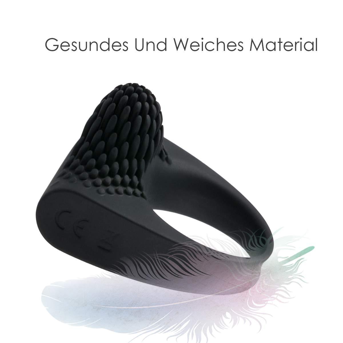 ZEMALIA Silikon-Penisring vibrator Ring sexspielzeug cockring,Perfekt für Paare, Sie und Ihn.