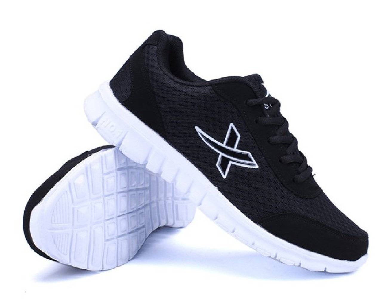 Jacky's New Men's Casual Shoes in The Autumn, Comfortable Breathable Mesh Shoes (7, Black)