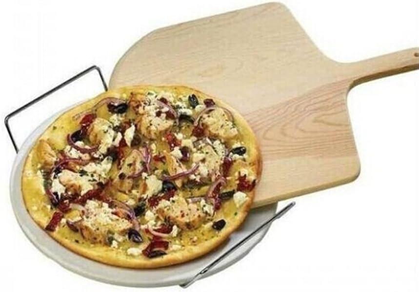 OUNONA Pala de madera para pizza de 35,5 cm para hornear pizza y pan casero