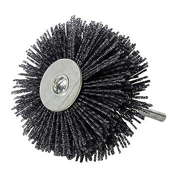Abrasive Nylon Rad Pinsel Radial Polierb/ürste f/ür Holz M/öbel Mahagoni Finishing Metall Stein ODOD85mm 1 St/ück Grau 400#