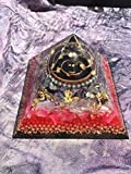 Triple Orgone Anti Stress Generator Amethyst/Rose Quartz Pyramid