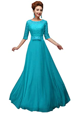Women Long Bridesmaid Prom Gown Evening Formal Party Cocktail Prom Dress (S (.